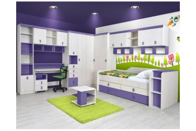 Otroška soba Numero - sestav 4 (vijola)
