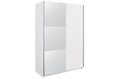 Drsna omara z ogledalom Luka Basic 135 bela