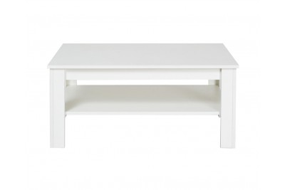 Klubska mizica Wood bela