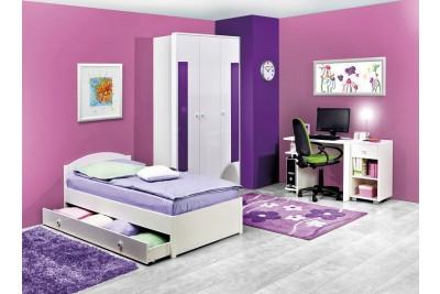 Otroška soba Happy bela - vijolična - sestav 1