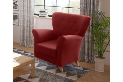 Fotelj Viktor bordo rdeč