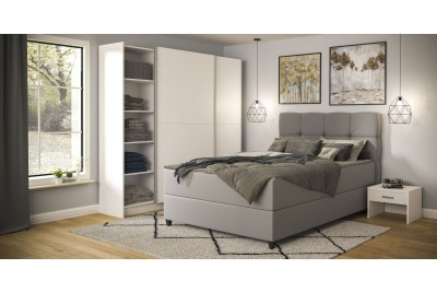 Francoska postelja Tina 160x200 svetlo siva