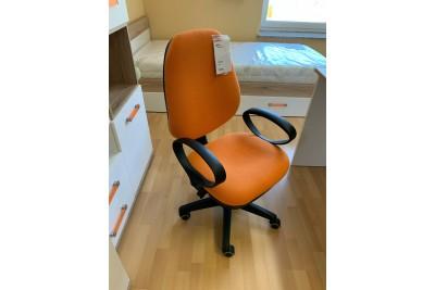 Pisarniški stol Patrik oranžen - zadnji kos