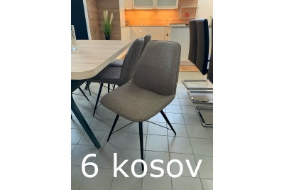 Jedilni stoli Barney - 6 kosov - zadnji kosi