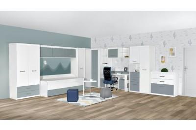 Otroška soba Kinder bela - modra - sestav 1