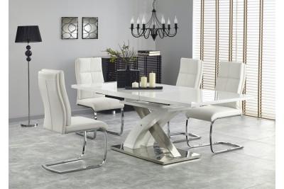 Jedilna miza Sandor 160(220)x90 cm bela