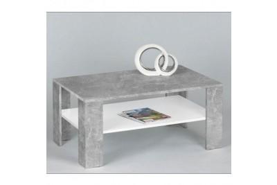 Klubska miza CLARUS cement+bela
