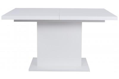 Raztegljiva miza Cross bela visoki sijaj