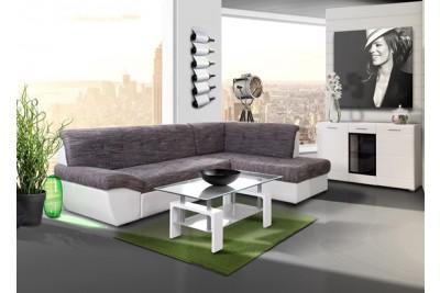 Sedežna garnitura Babilon L sivo-bela