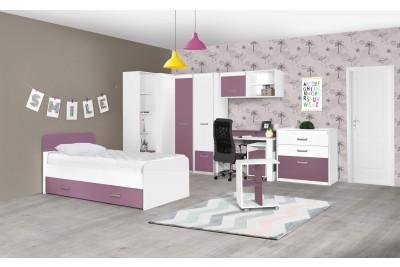 Otroška soba Kinder bela - vijolična - sestav 2