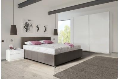 Dvižna postelja Kira 160x200 rjavo blago - ZADNJI KOS