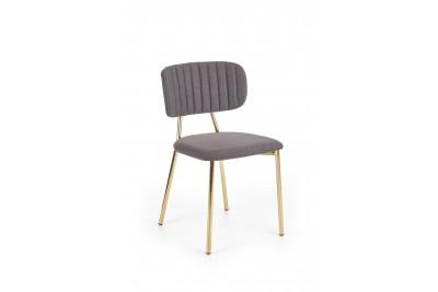 Jedilni stol K362 siv - zlate noge